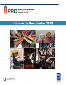Portada Informe IPRO 2013